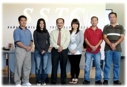 Taidin Suhaimin 3rd from left with participants of Creative Thinking for Problem Solving Training Course from Saza Rice Sdn. Bhd., organized by Sabah Skills & Technology Centre (SSTC), Kota Kinabalu, Sabah, Malaysia.